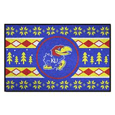 Officially Licensed NCAA Holiday Sweater Mat - University of Kansas