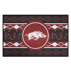 Officially Licensed NCAA Holiday Sweater Mat - University of Arkansas