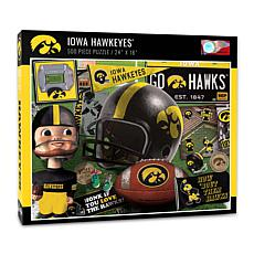 Officially Licensed NCAA Iowa Hawkeyes Retro Series 500-Piece Puzzle