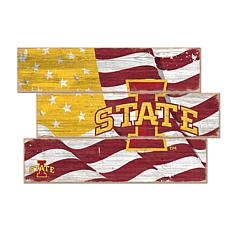 Officially Licensed NCAA Iowa State Three Plank Flag