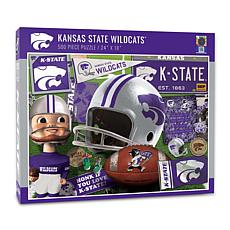 Officially Licensed NCAA Kansas State Wildcats Retro 500-Piece Puzzle