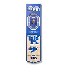Officially Licensed NCAA Kentucky Wildcats 3D Stadium Banner