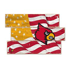 Officially Licensed NCAA Louisville Three Plank Flag