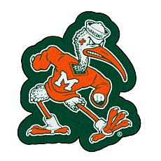 Officially Licensed NCAA Mascot Rug - U of Miami Sebastian the Ibis