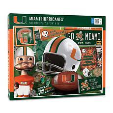 Officially Licensed NCAA Miami Hurricanes Retro 500-Piece Puzzle