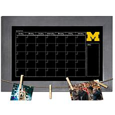 Officially Licensed NCAA Michigan Monthly Chalkboard w/ Clothespins