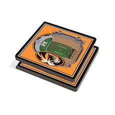 Officially Licensed NCAA Missouri Tigers 3-D StadiumViews Coaster Set