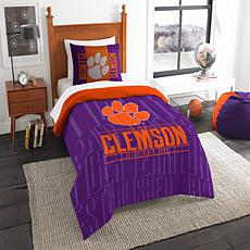 Officially Licensed NCAA Modern Take Twin Comforter Set - Clemson