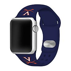 Officially Licensed NCAA Navy 42/44MM Apple Watch Band - VA Cavaliers