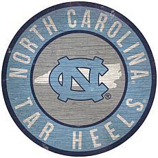 """Officially Licensed NCAA North Carolina 12"""" Wood Circle"""