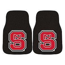 Officially Licensed NCAA North Carolina State Carpet Car Mat 2-Pc Set