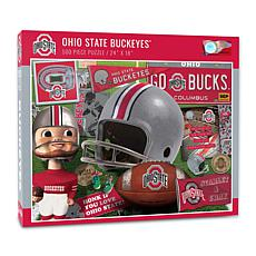 Officially Licensed NCAA Ohio State Buckeyes Retro 500-Piece Puzzle