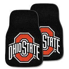 Officially Licensed NCAA Ohio State University Carpet Car Mat 2-Pc Set