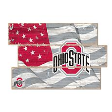 Officially Licensed NCAA Ohio State University Three Plank Flag