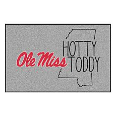 """Officially Licensed NCAA Ole Miss 19"""" x 30"""" Southern Style Rug"""