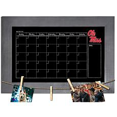 Officially Licensed NCAA Ole Miss Monthly Chalkboard w/ Clothespins