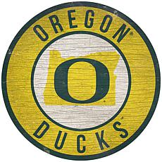 """Officially Licensed NCAA Oregon 12"""" Wood Circle"""