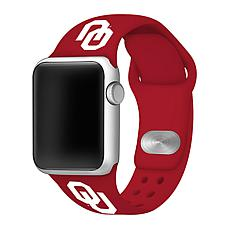Officially Licensed NCAA Red 38/40MM Apple Watch Band - OK Sooners