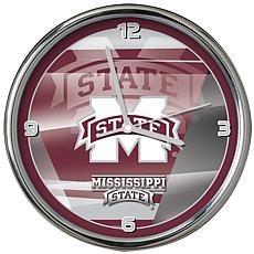 Officially Licensed NCAA Shadow Chrome Clock - Mississippi State