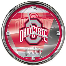 Officially Licensed NCAA Shadow Chrome Clock - Ohio State