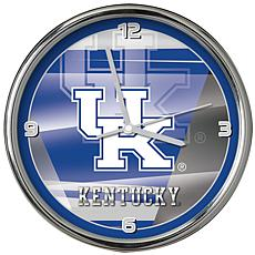 Officially Licensed NCAA Shadow Chrome Clock - University of Kentucky