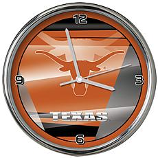 Officially Licensed NCAA Shadow Chrome Clock - University of TX Austin