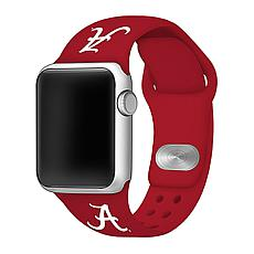 Officially Licensed NCAA Silicone Apple Watch Band - Alabama - Crimson