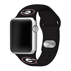 Officially Licensed NCAA Silicone Apple Watch Band - Georgia - Black