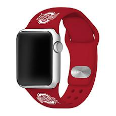 Officially Licensed NCAA Silicone Apple Watch Band - Ohio State - Red