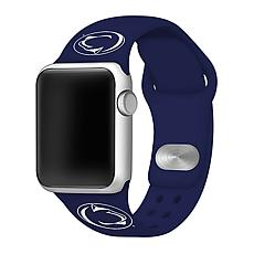 Officially Licensed NCAA Silicone Apple Watch Band - Penn State - Navy