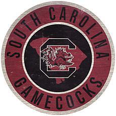 "Officially Licensed NCAA South Carolina 12"" Wood Circle"