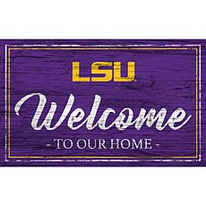 Officially Licensed NCAA Team Color Welcome Sign - LSU