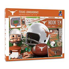 Officially Licensed NCAA Texas Longhorns Retro Series 500-Piece Puzzle