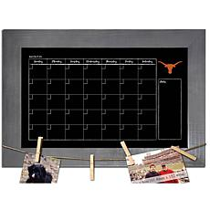 Officially Licensed NCAA Texas Monthly Chalkboard w/ Clothespins