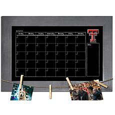 Officially Licensed NCAA Texas Tech Monthly Chalkboard w/ Clothespins