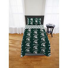 Officially Licensed NCAA Twin Bed in Bag Set - Michigan State Spart...