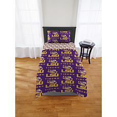 Officially Licensed NCAA Twin XL Bed in a Bag Set - LSU Tigers