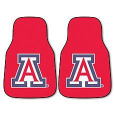Officially Licensed NCAA University of Arizona Carpet Car Mat 2-Pc Set