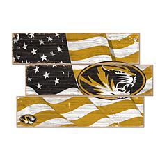Officially Licensed NCAA University of Missouri Three Plank Flag