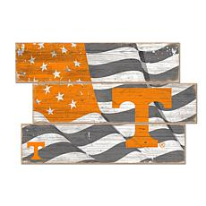 Officially Licensed NCAA University of Tennessee Three Plank Flag