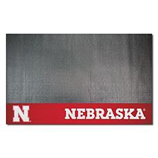 Officially Licensed NCAA Vinyl Grill Mat - University of Nebraska