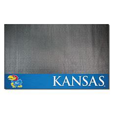 Officially Licensed NCAA Vinyl Grill Mat - University of Kansas