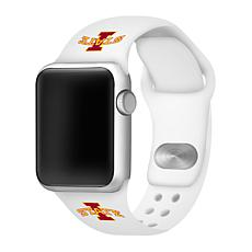 Officially Licensed NCAA White 38/40MM Apple Watch Band-  Iowa State