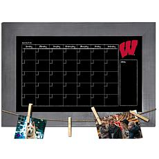 Officially Licensed NCAA Wisconsin Monthly Chalkboard w/ Clothespins