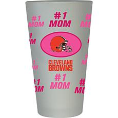 "Officially Licensed NFL ""#1 Mom"" Frosted Pint Glass - Cleveland Browns"