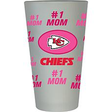 Officially Licensed NFL #1 Mom Frosted Pint Glass - Kansas City Chiefs