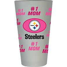 Officially Licensed NFL #1 Mom Frosted Pint Glass- Pittsburgh Steelers