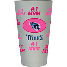"Officially Licensed NFL ""#1 Mom"" Frosted Pint Glass - Tennessee Titans"