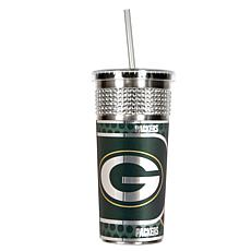 Officially Licensed NFL 16oz. Tumbler w/Straw - Packers