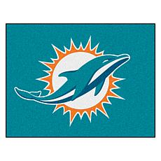 """Officially Licensed NFL 19"""" x 30"""" Logo Starter Mat - Miami Dolphins"""
